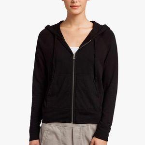 James Perse | Vintage Fleece Black Hoodie Jacket 3